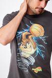 Tbar Collab Movie And Tv T-Shirt, LCN WB FADED SLATE SPACE JAM - TAZ TORNADO