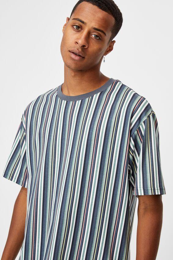 Downtown T-Shirt, TRUE NAVY FUN STRIPE