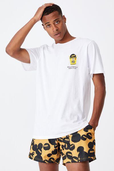 Tbar Collab Pop Culture T-Shirt, LCN IRV WHITE/IRVINS-DANGEROUSLY ADDICTIVE