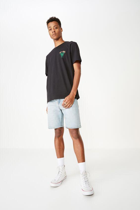 Tbar Art T-Shirt, BLACK/HOT AS HELL