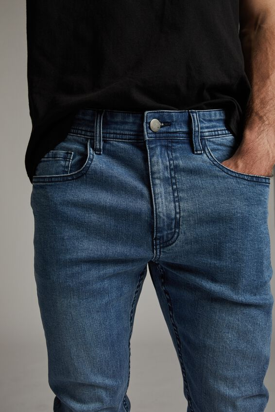 Super Skinny Jean, LAUNDRY BLUE + RIPS