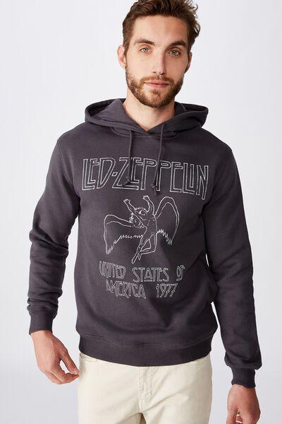 Collab Fleece Pullover, LCN ARA FADED SLATE/LED ZEPPELIN UNITED STATES