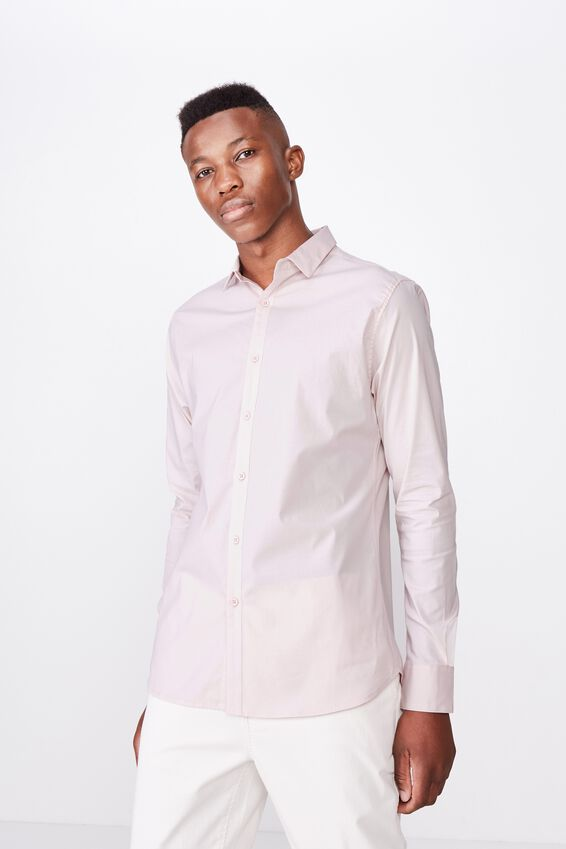 Tailored Long Sleeve Shirt, PINK