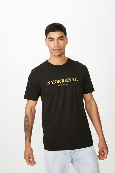 Tbar Urban T-Shirt, BLACK/NY ORIGINAL