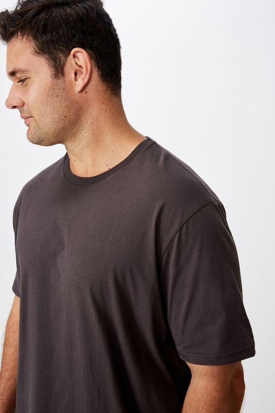 Bg Essential Longline Curved Hem, FADED SLATE
