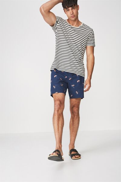 Kahuna Short, NAVY GINGKO DITSY