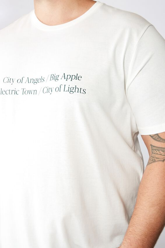 Tbar Tee, VINTAGE WHITE/CITY OF LIGHTS