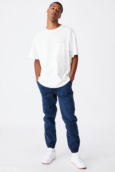 Drake Cuffed Pant, WASHED NAVY BIKER