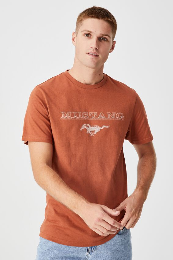 Tbar Collab Pop Culture T-Shirt, LCN FOR TERRACOTTA/FORD-MUSTANG