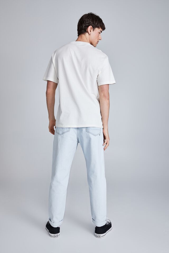 Relaxed Tapered Jean, STONE LIGHT BLUE
