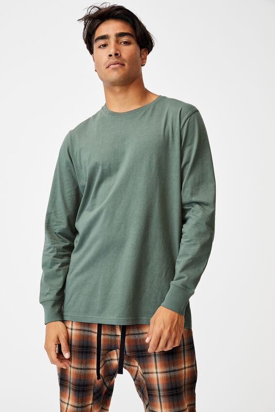 Organic Sleep Jersey Long Sleeve T-Shirt, FOREST