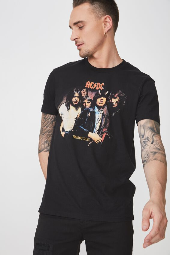 Tbar Collaboration Tee, LC BLACK/ACDC HIGHWAY TO HELL