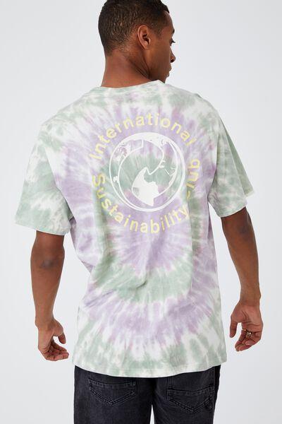 Bondi T-Shirt, PURPLE/GREEN TIE DYE SUSTAINABILITY CLUB