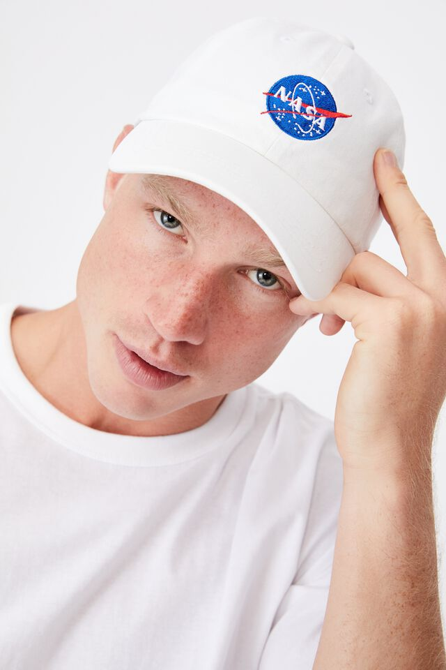 Special Edition Dad Hat, LCN NASA BADGE/WHITE