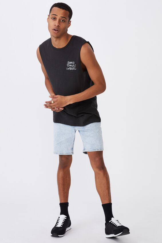 Tbar Muscle, WASHED BLACK/LABEL SCRIPT