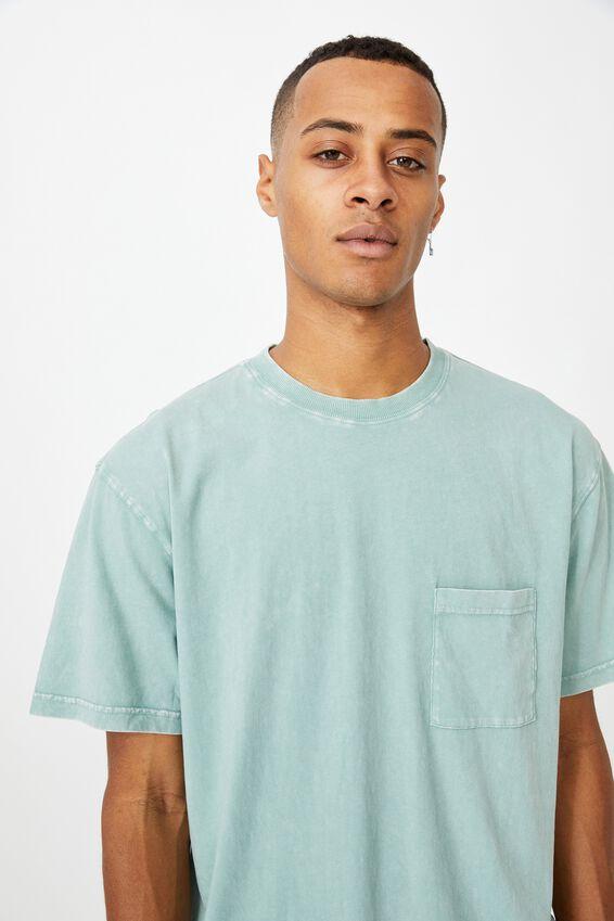 Washed Pocket T-Shirt, WASHED TEAL