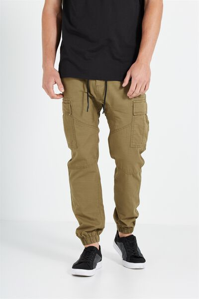 Customised Drake Cuffed Pant, ARMY GREEN #22