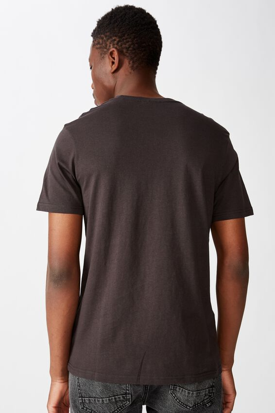 Tbar Collab Music T-Shirt, LCN PRO WASHED BLACK METALLICA - HAMMER