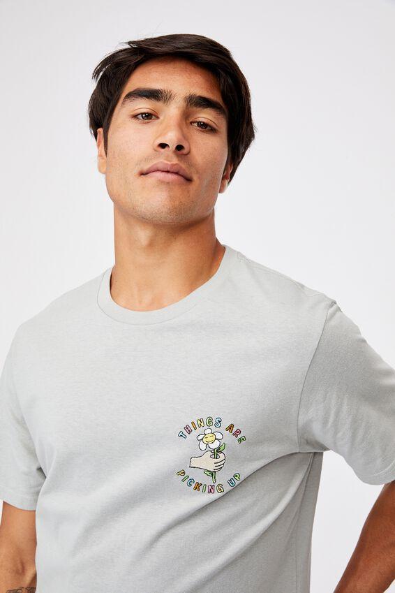 Tbar Art T-Shirt, BLUE HAZE/PICKING UP