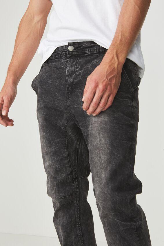 Slim Denim Jogger, WASHED BLACK