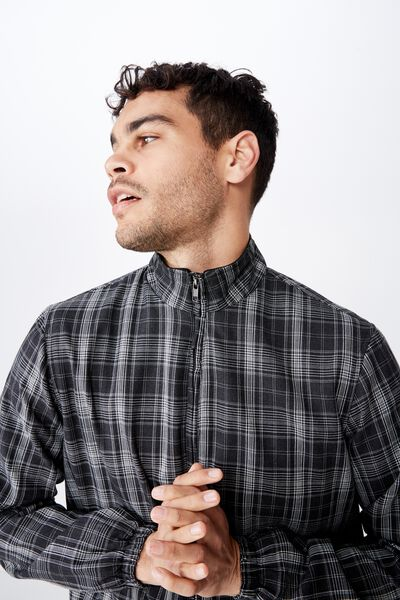 Resort Harrington Jacket, BLACK/WHITE CHECK