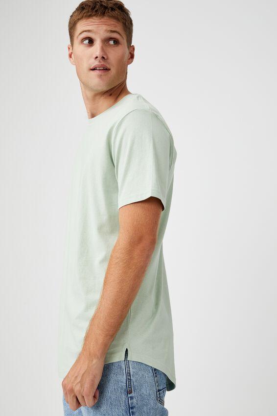 Essential Longline Scoop T-Shirt, PISTACHIO