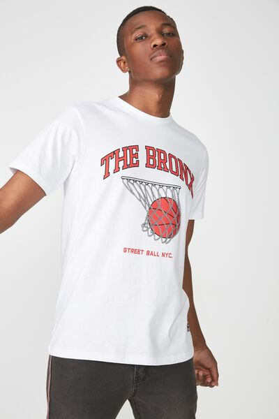 Active Graphic Tee, WHITE/THE BRONX