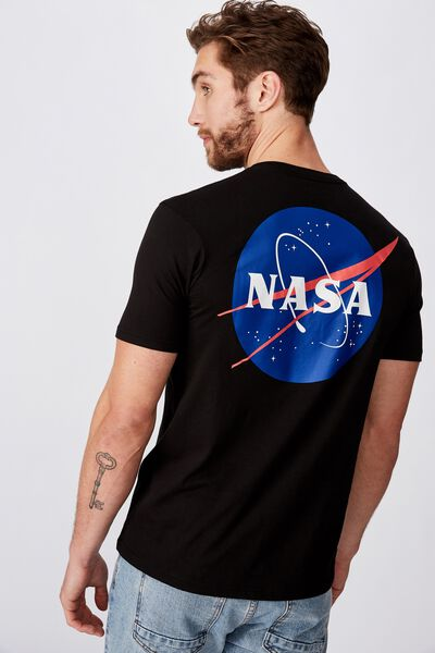 Tbar Collab Pop Culture T-Shirt, LCN NAS BLACK/NASA - WORLD LOGO