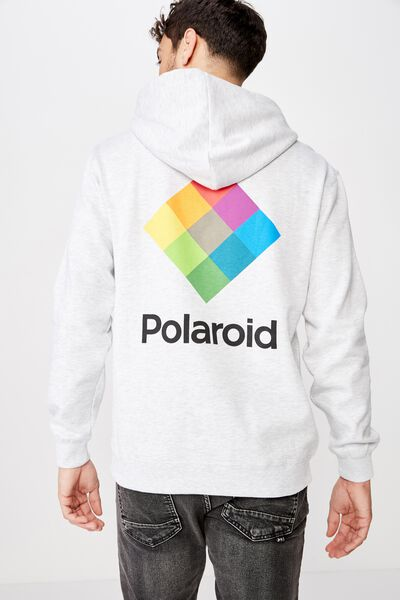 Collab Fleece Pullover, LCN POL WHITE MARLE/POLAROID