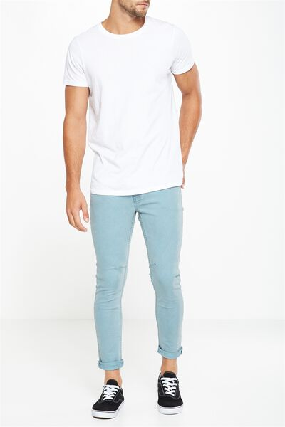 Tapered Leg Jean, TEAL