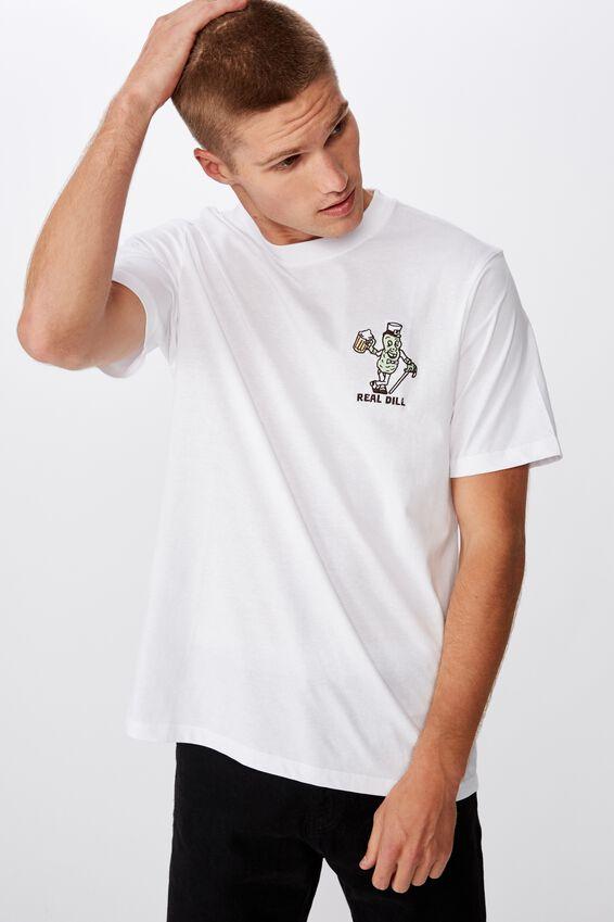 Tbar Art T-Shirt, SK8 WHITE/REAL DILL