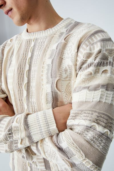 Vintage Knit, ECRU MULTI