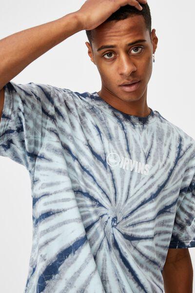 Special Edition T-Shirt, LCN IRV BLACK TIE DYE/IRVINS LOGO