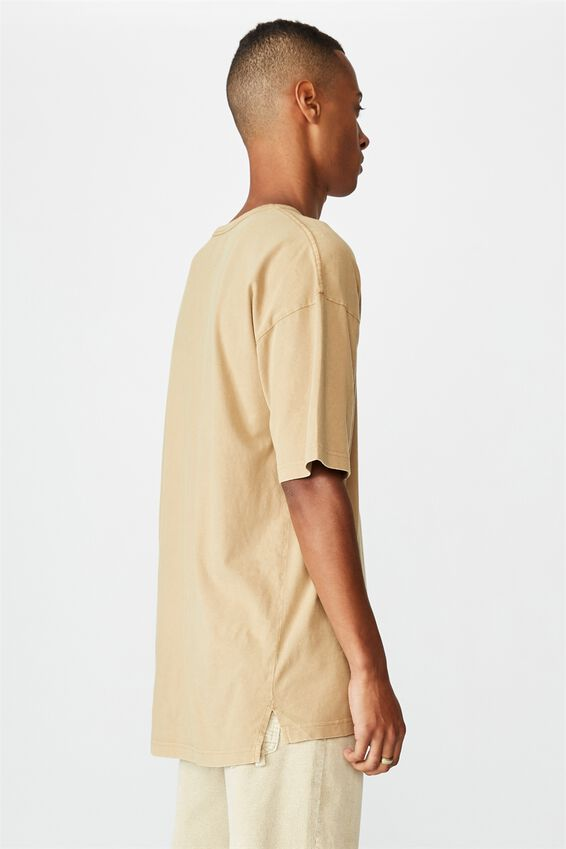 Oversized Droptail Tee, CAMEL