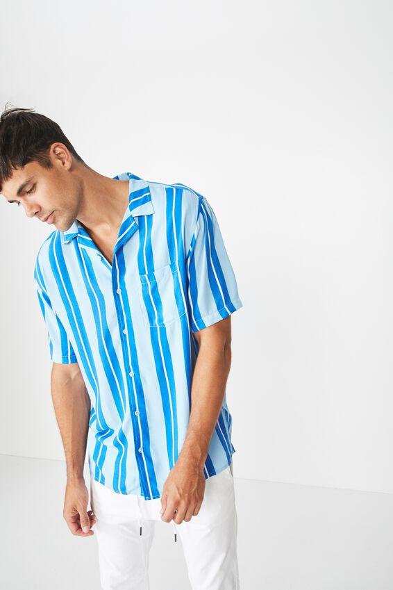 Festival Shirt, BLUE SKY BOLD STRIPE