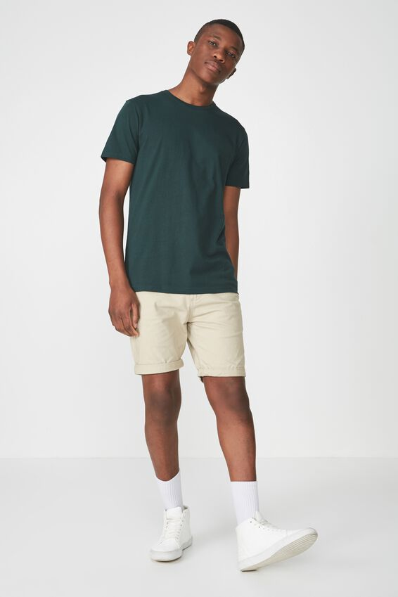 Essential Crew Tee, PINENEEDLE GREEN