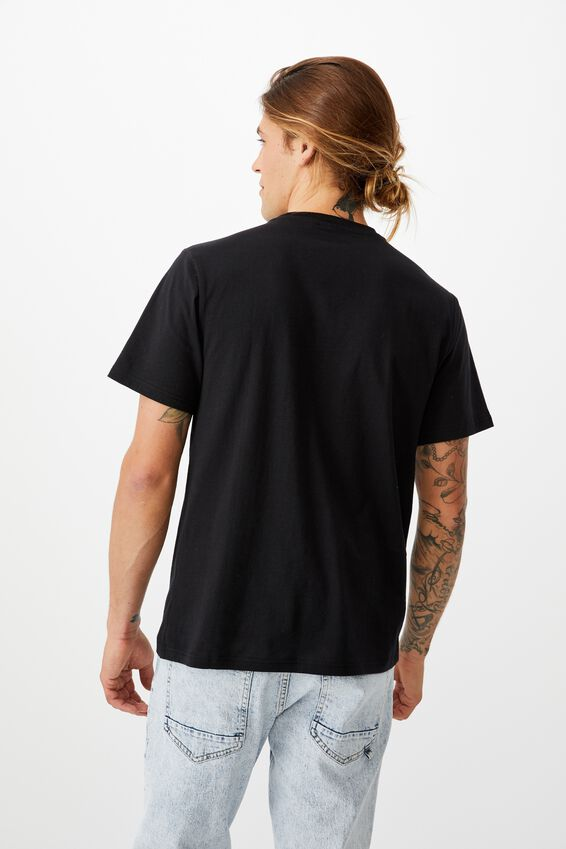 Tbar Collab Character T-Shirt, LCN PUSH BLACK/PUSHEEN-PIZZA