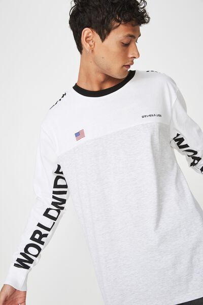 Tbar Long Sleeve, WHITE MARLE/WHITE/BLACK/VISION WORLDWIDE