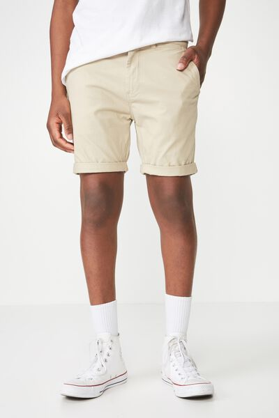 Washed Chino Short, STONE
