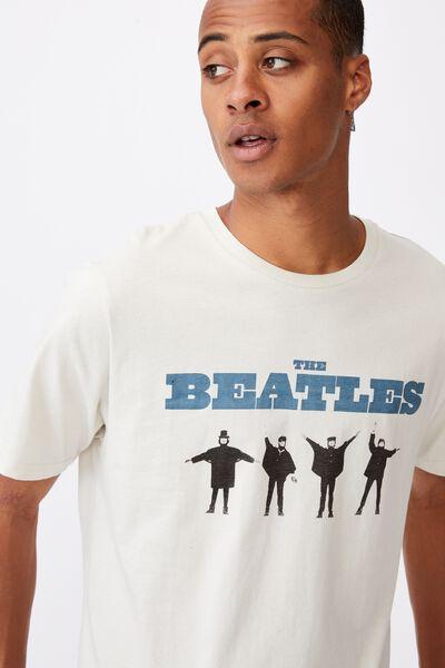 Tbar Collab Music T-Shirt, LCN APP BONE/THE BEATLES-HELP
