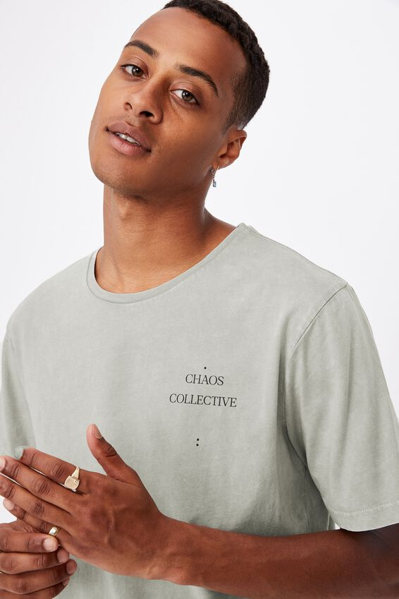 Longline Scoop T-Shirt, SMOKE ACID/COLLECTIVE CHAOS CIRCLE