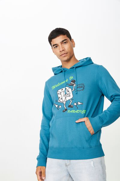 Fleece Pullover 2, METHYL BLUE/PARADISE