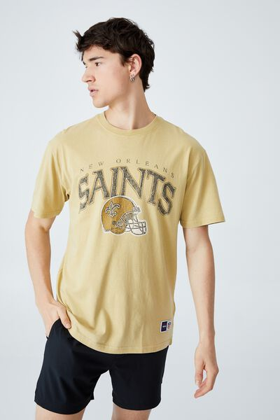 Active Collab Oversized T-Shirt, LCN NFL SAUTERNE YELLOW/NFL - NEW ORLEANS SAI