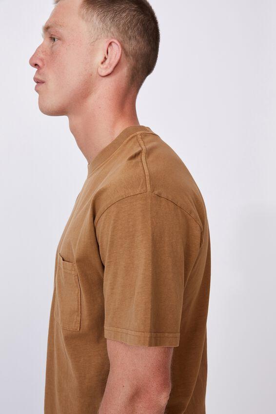 Washed Pocket T-Shirt, BURNT ALMOND