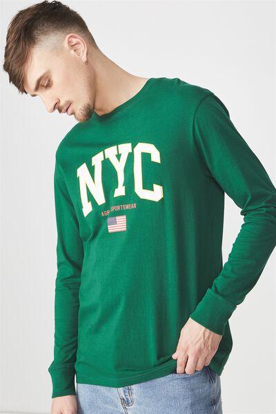Tbar Long Sleeve, POSY GREEN/NYC SPORTSWEAR