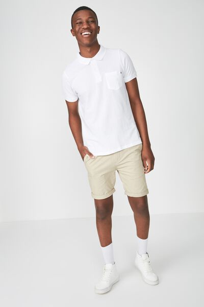 Icon Polo, WHITE/POCKET