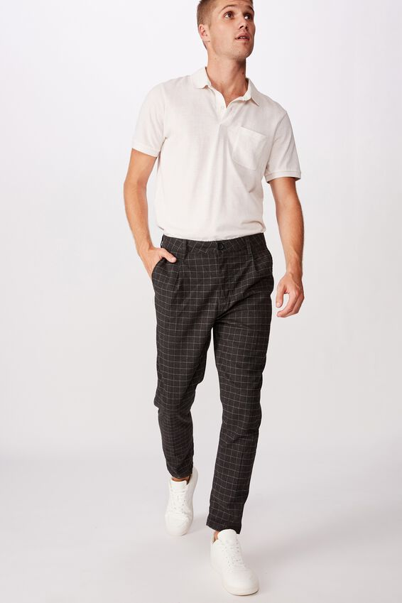 Oxford Trouser, BLACK WINDOW