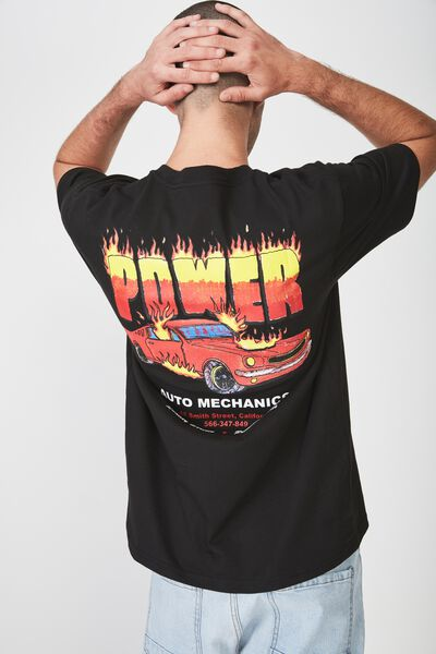 Street T-Shirt, BLACK/POWER