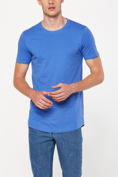 Essential Longline Curved Hem, ULTRA BLUE