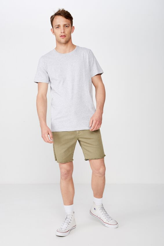 Raw Hem Chino, WASHED ARMY GREEN